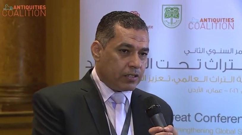 Shaaban Abdel Hawad z departamentu repatriacji zabytków Ministerstwa Starożytności Egiptu /YouTube