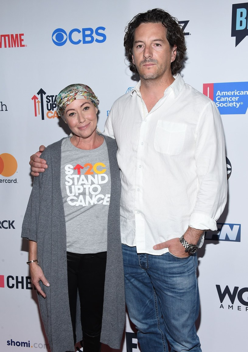 Shannen Doherty z mężem Kurtem Iswarienko na gali Stand Up To Cancer /Splash News /East News