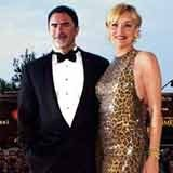 Sharon Stone i Phil Bronstein /Archiwum