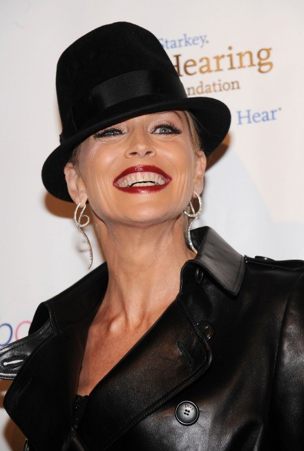 "Sharon Stone na gali ""Elton John AIDS Foundation's"" /Getty Images/Flash Press Media"
