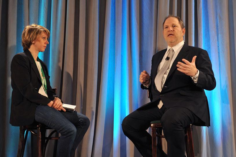 Sharon Waxman i Harvey Weinstein w 2011 roku /Slaven Vlasic /Getty Images