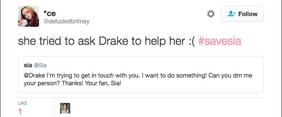 """""""Sia prosi Drake'a, aby pomógł ją uwolnić"""" /"""