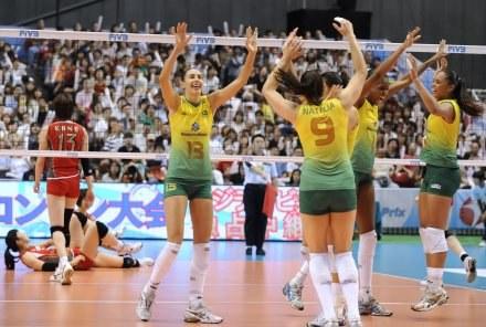Siatkarki Brazylii nie miały sobie równych w turnieju /AFP