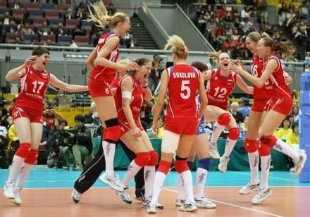 Siatkarki Rosji pokonały w finale MŚ Brazylię /AFP