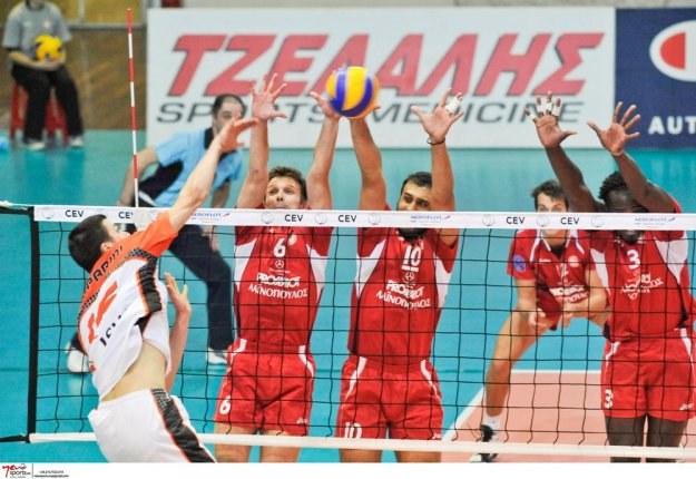 Siatkarze Jastrzębskiego Węgla przegrali z Olympiakosem Pireus 2:3 /www.cev.lu