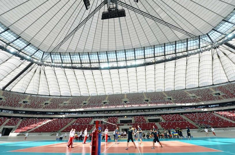 Siatkarze już gości na Stadionie Narodowym /AFP