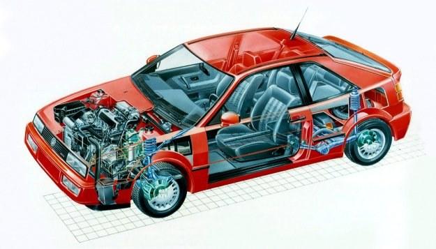 Siedzenia tylne złożyć można do przodu, aby w ten sposob zwiększyć niezbyt dużą pojemność bagażnika (300 dm3). /Volkswagen