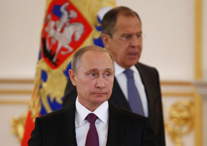 Siergiej Ławrow i Władimir Putin /AFP