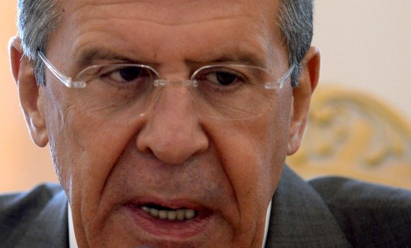 Siergiej Ławrow, szef rosyjskiego MSZ. /AFP
