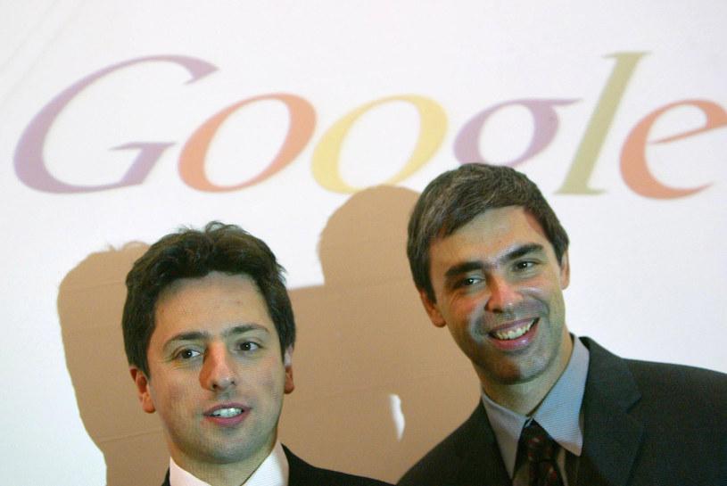 Siergiejem Brin (z lewej) i Larry Page - założyciele Google /AFP
