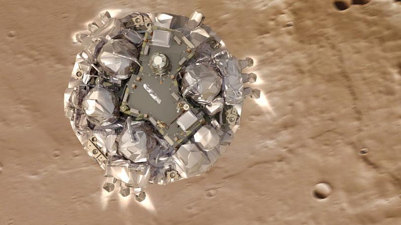 Silniki hamujące miały się wyłączyć około 2 metrów nad powierzchnią Marsa /materiały prasowe