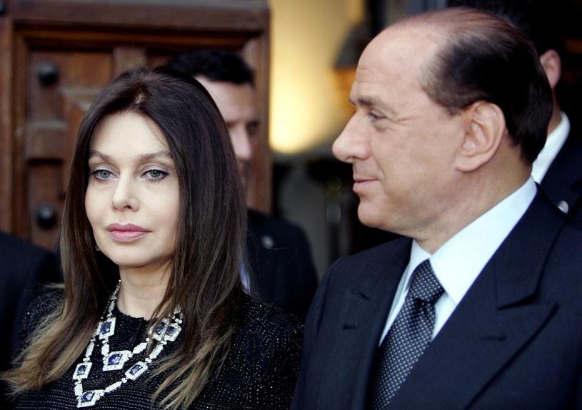 Silvio Berlusconi i jego była żona Veronica Lario /AFP