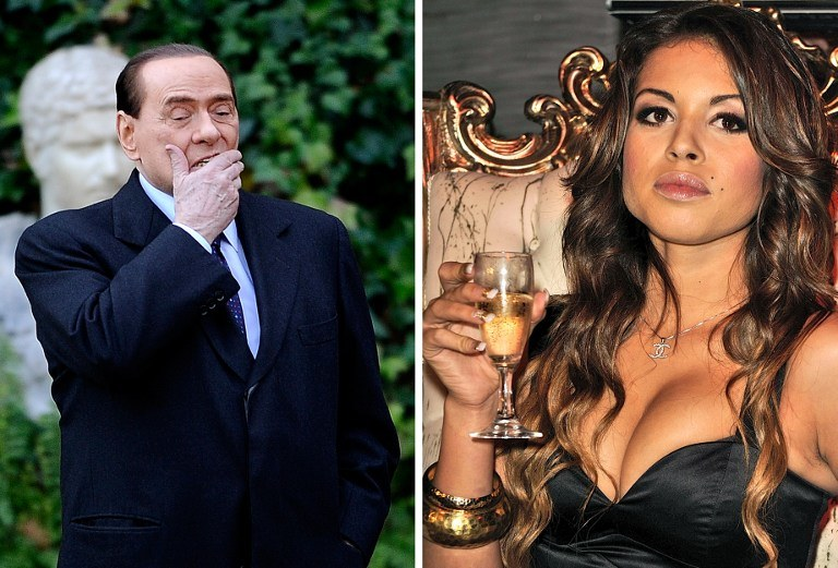 Silvio Berlusconi i Marokanka Ruby /AFP