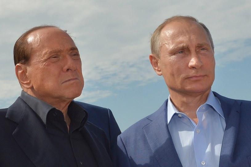 Silvio Berlusconi i Władimir Putin /Alexei Druzhinin /AFP