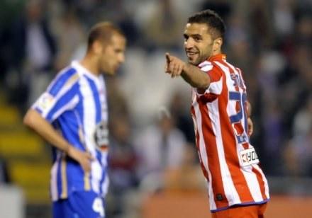 Simao Sabrosa po strzeleniu gola numer 4000 dla Atletico /AFP