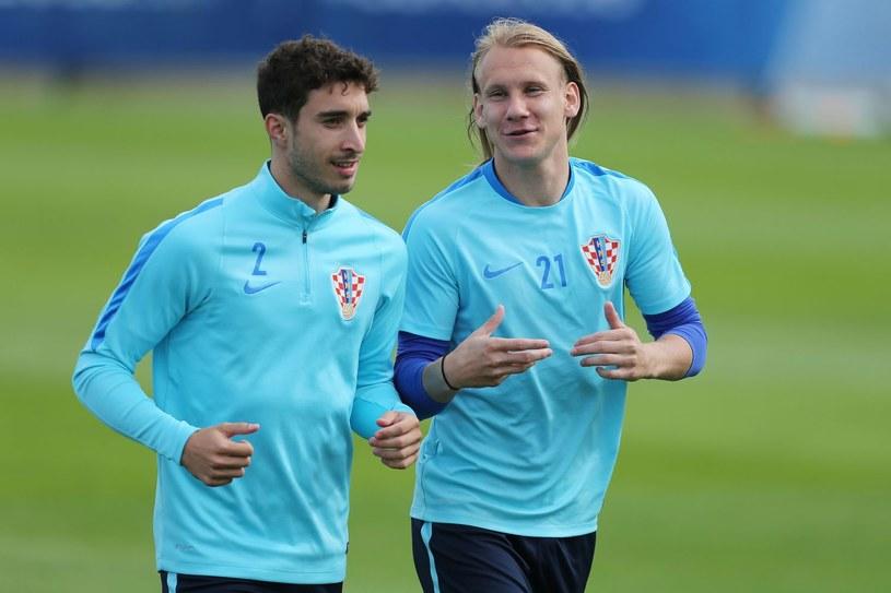 Sime Vrsaljko (L) oraz Domagoj Vida (P) /CHARLY TRIBALLEAU  /AFP