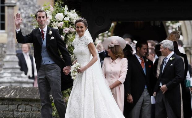 Siostra księżnej Kate - Pippa Middleton wyszła za mąż. Zobaczcie jej kreację!
