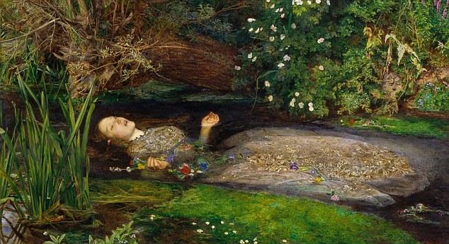 """SIR JOHN EVERETT MILLAIS: """"OFELIA"""" /British Tate /Materiały prasowe"""