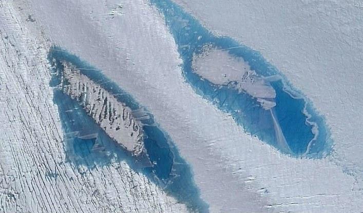 Skąd się wzięły błękitne jeziora na Antarktydzie Wschodniej? /materiały prasowe