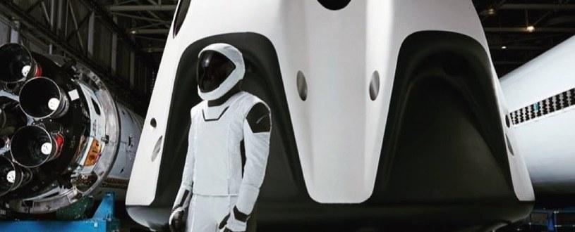 Skafander kosmiczny astronautów SpaceX /materiały prasowe