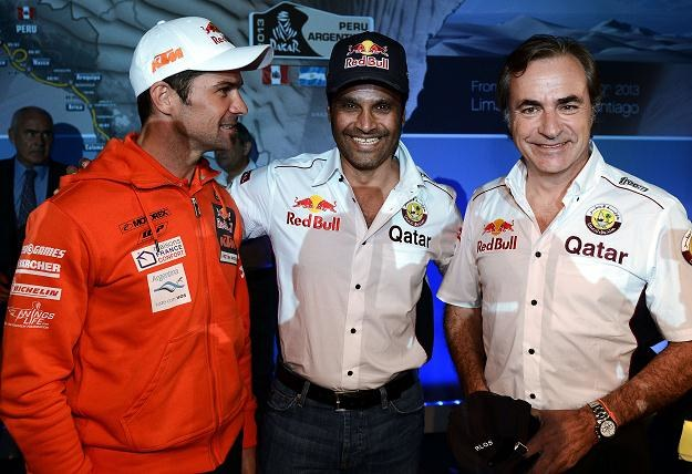 Skład zespołu Red Bulla: Cyril Depres, Nasser Al-Attiyah i Carlos Sainz /AFP