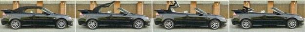 Składanie dachu w szwedzkim kabriolecie zajmuje 20 sekund. Da się to zrobić również w czasie jazdy, do prędkości 40 km/h. /Motor