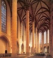 Sklepienie palmowe, kościół Dominikanów w Tuluzie /Encyklopedia Internautica