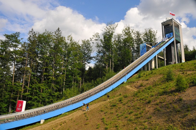 Skocznia w Wiśle-Malince jest przygotowywana do zawodów Pucharu Świata /Marek Dybas /East News