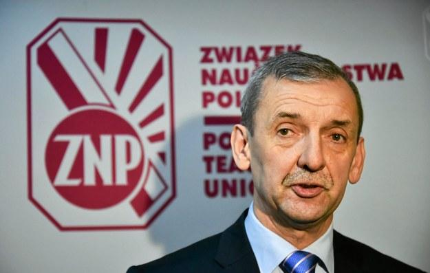 Sławomir Broniarz, prezes ZNP, fot. Franciszek Mazur /Agencja Gazeta