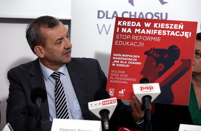 Sławomir Broniarz /Tomasz Gzell /PAP