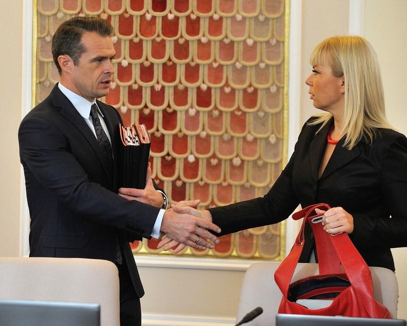 Slawomir Nowak i Elżbieta Bieńkowska /Witold Rozbicki /Reporter