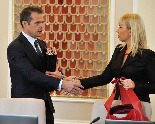 Sławomir Nowak i Elżbieta Bieńkowska /Witold Rozbicki /Reporter