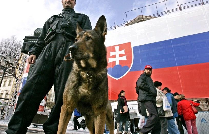 Słowacka policja; Zdj. ilustracyjne /ALEXANDER ZEMLIANICHENKO/ASSOCIATED PRESS/FOTOLINK /East News