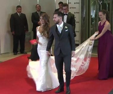 Ślub Lionela Messiego. Młoda para na czerwonym dywanie