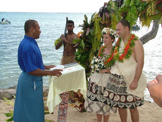 Ślub na Fidżi /fot. Mariusz Majewski /INTERIA.PL