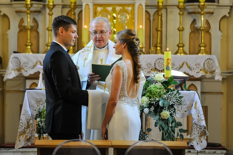 Ślub Pawła Wojciechowskiego /Piotr Lampkowski /East News