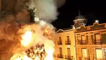 Słup ognia w sercu hiszpańskiego miasteczka