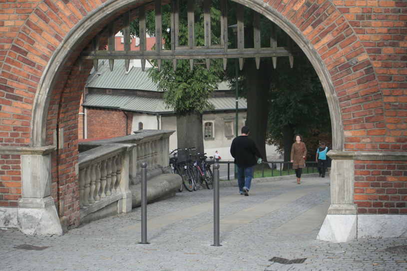 Słupki w jednej z bram prowadzących na Wawel /Maciej Nycz /RMF FM
