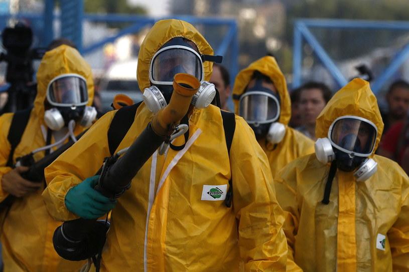 Służby dezynfekujące Rio de Janerio w związku z rozprzestrzenianiem się wirusa Zika /MARECELO SAYAO /PAP/EPA