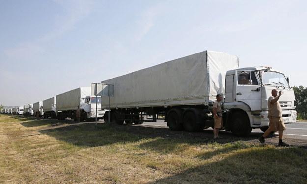 Służby ukraińskie sprawdzają rosyjski konwój