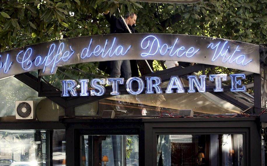 Słynna rzymska Cafe de Paris /DANILO SHIAVELLA    /PAP/EPA