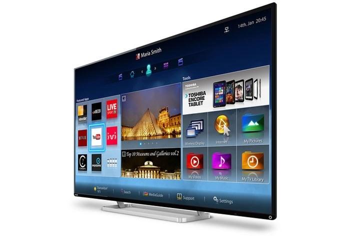 Smart TV Cloud - platforma Smart TV Toshiby. Nie dostarcza tak wielu opcji, co konkurencja /materiały prasowe