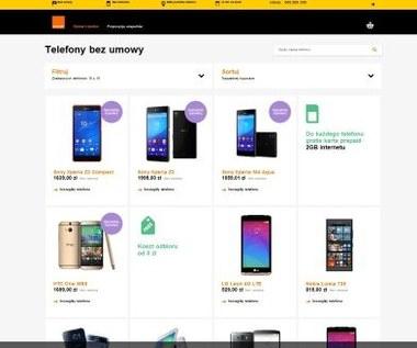 Smartfony bez umowy w sklepie Orange