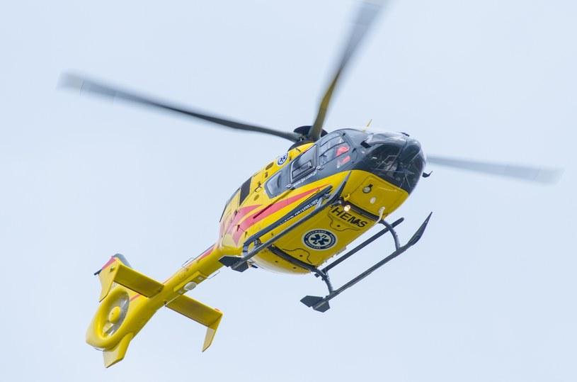 Śmigłowiec lotniczego pogotowia ratunkowego /Dominik Zachariasz /Reporter