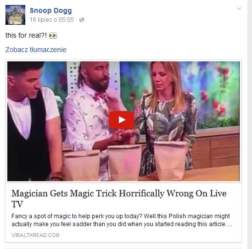 Snoop Dogg na Facebooku /