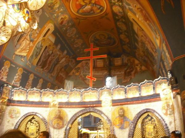 Wchodzimy do środka...trwa nabożeństwo...słychać piękne śpiewy cerkiewne...