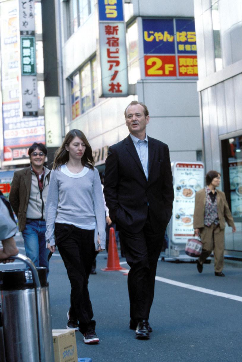 """Sofia Coppola i Bill Murray na planie """"Między słowami"""" /SATO YOSHIO / FOCUS FEATURES  /East News"""