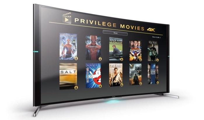 Sony dodaje do telewizorów 4K filmy w jakości Ultra HD /materiały prasowe