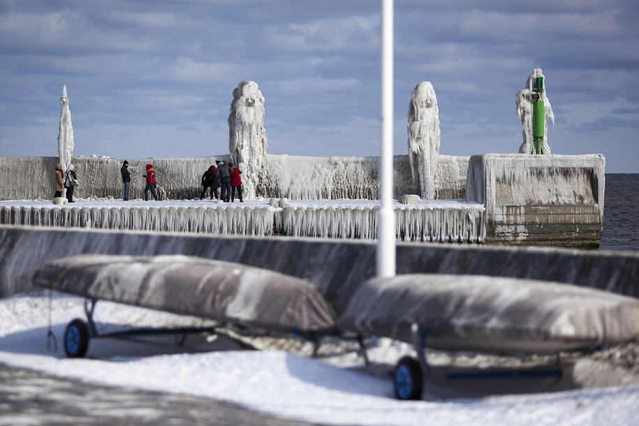 Sopockie molo zimową porą /Dariusz Proniewicz /Archiwum RMF FM