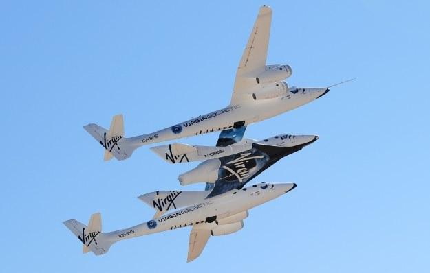 SpaceShipTwo oraz WhiteKnightTwo /AFP